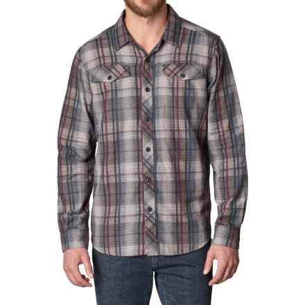 prAna Wessly Shirt - Organic Cotton, Long Sleeve (For Men) in Coal - Closeouts