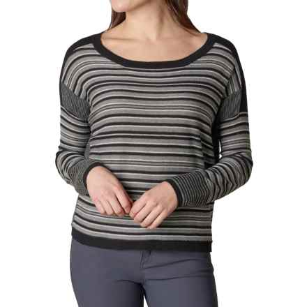 prAna Whitley Sweater - Organic Cotton Blend (For Women) in Black - Closeouts