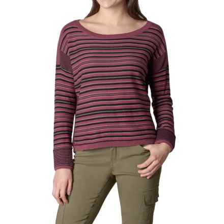 prAna Whitley Sweater - Organic Cotton Blend (For Women) in Burgundy - Closeouts