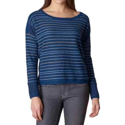 prAna Whitley Sweater - Organic Cotton Blend (For Women) in Dark Cobalt - Closeouts
