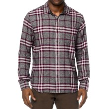 prAna Woodman Flannel Shirt - Organic Cotton, Long Sleeve (For Men) in Black Plum - Closeouts