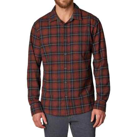 prAna Woodman Flannel Shirt - Organic Cotton, Long Sleeve (For Men) in Rust - Closeouts