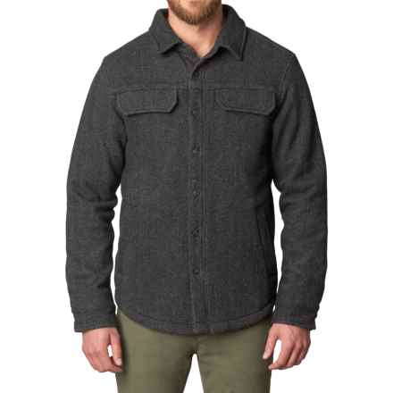 prAna Wooley Jacket (For Men) in Charcoal Tweed - Closeouts