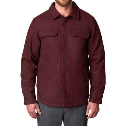 prAna Wooley Jacket (For Men) in Dark Umber Heather - Closeouts