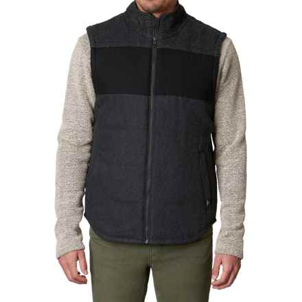 prAna Wooley Vest - Insulated (For Men) in Black Heather - Closeouts