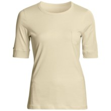 prAna Zoe Shirt - Organic Cotton, Elbow Sleeve (For Women) in Pale Yellow - Closeouts