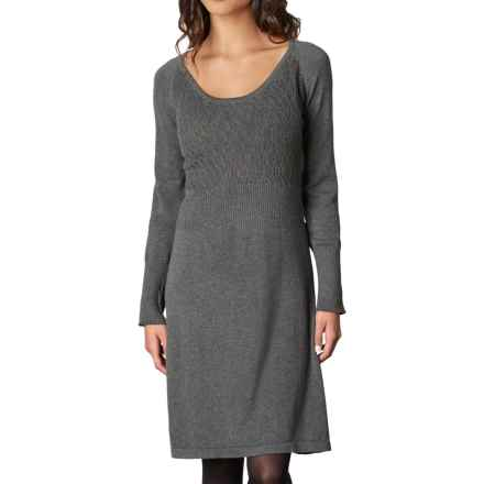 prAna Zora Dress - Organic Cotton, Long Sleeve (For Women) in Charcoal - Closeouts