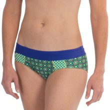 prAna Zuri Bikini Bottoms - UPF 50+ (For Women) in Cool Green Hyannis - Closeouts