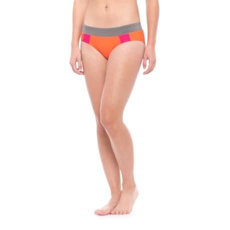 prAna Zuri Bikini Bottoms - UPF 50+ (For Women) in Electric Orange