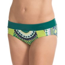 prAna Zuri Bikini Bottoms - UPF 50+ (For Women) in Teal Tribe - Closeouts