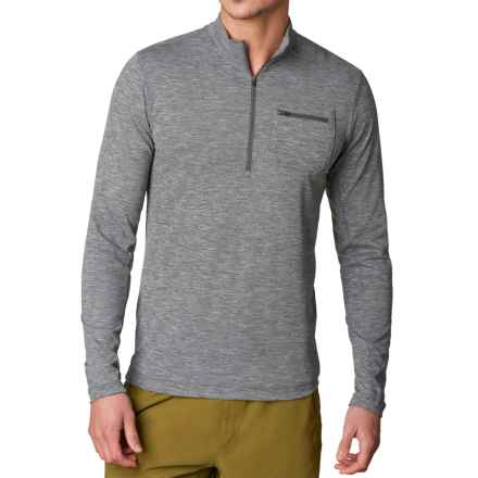 prAna Zylo Shirt - Zip Neck, Long Sleeve (For Men) in Black - Closeouts