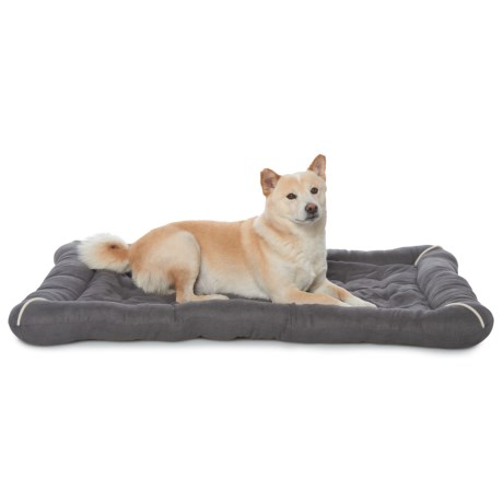 "Precious Tails Orthopedic Tufted Crate Mat - 25x40"" in Charcoal"