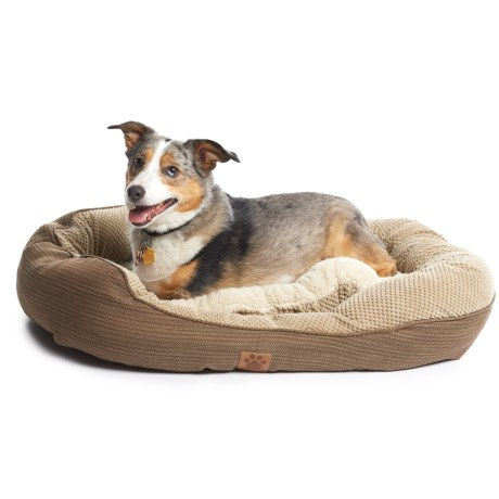 """Precision Pet Products Snoozzy Pillow Soft Daydreamer Dog Bed - 32x25"""" in Brown"""