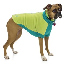 Premier Pet Fido Fleece Dog Sweater - Medium-Large Dogs, Size 20/22 in Limey Bones - Closeouts