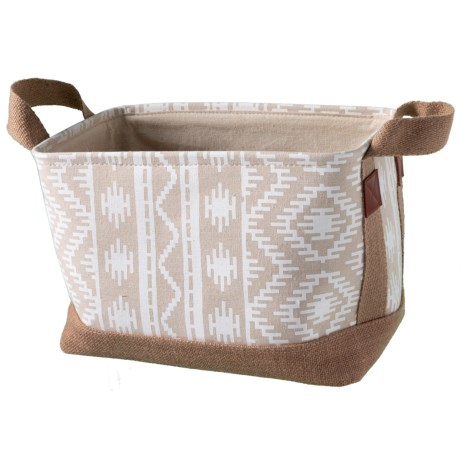 Premiere Living Horatio Soft Storage Rectangle Tote - Medium in Natural/White