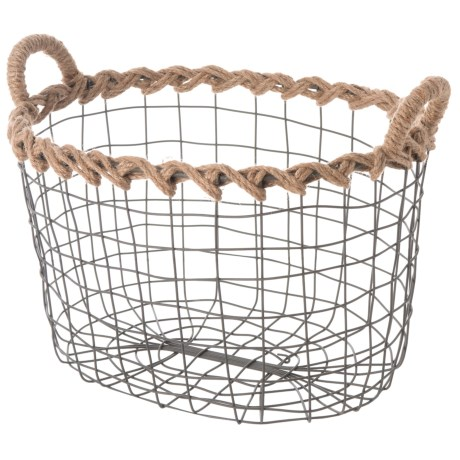 Premiere Living Oval Wire Basket - Medium in Dark Gray