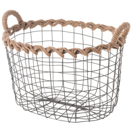 Premiere Living Oval Wire Basket - Small in Dark Gray