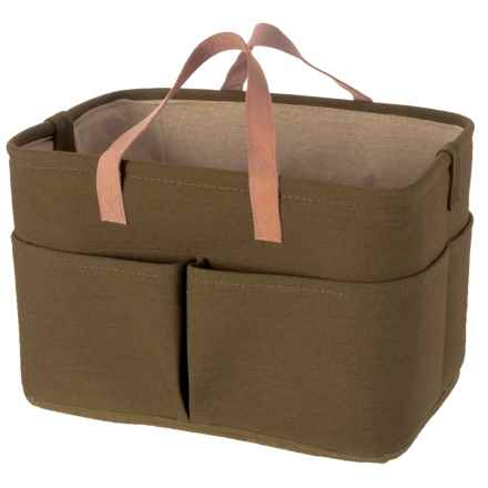 Premiere Living Rectangle 5-Pocket Utility Tote - Large in Army Green - Closeouts