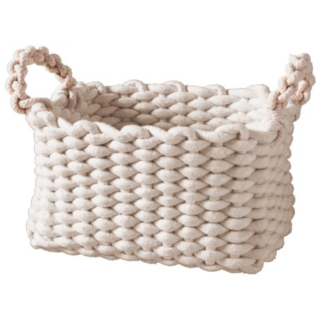 Premiere Living Rectangle Chunky Rope Basket - Medium in Natural