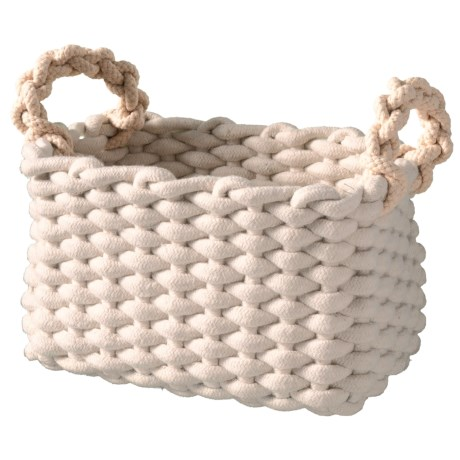 Premiere Living Rectangle Chunky Rope Basket - Small in Natural