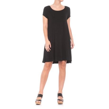 Premise Scoop Neck Dress - Short Sleeve (For Women) in Black
