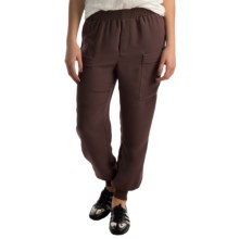Premise Studio Double Pocket Joggers (For Women) in Black Coffee - Closeouts