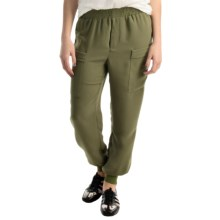 Premise Studio Double Pocket Joggers (For Women) in Olive - Closeouts
