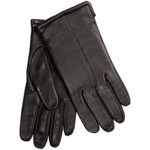 Premium Sheepskin Leather Gloves - Lambswool Lining, Touchscreen Compatible (For Men) in Black - 2nds