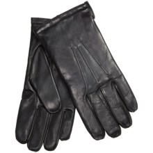 Premium Sheepskin Leather Gloves - Touchscreen Compatible, Cashmere Lining (For Men) in Black - 2nds