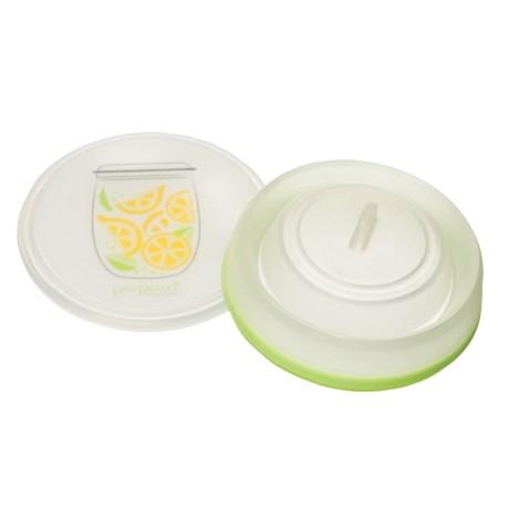 Prepara Chop Savor Cutting Mat Base - BPA-Free in Green Lid/Citrus