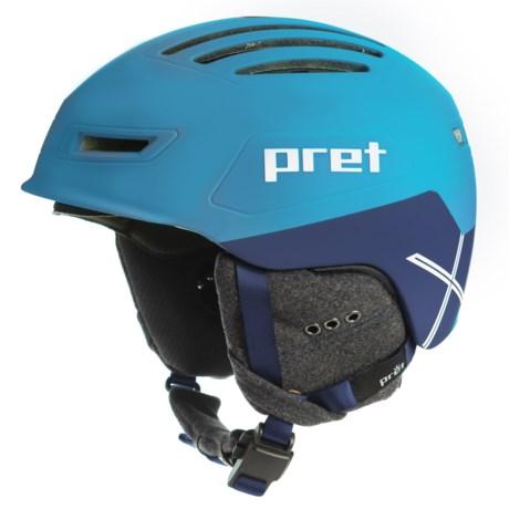 Pret Cirque X Ski Helmet in Rubber Signature Blue