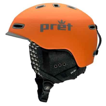 Pret Cynic Snowsport Helmet in Rubber Fire Orange - Closeouts