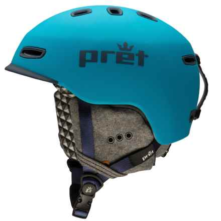 Pret Cynic Snowsport Helmet in Rubber Hawaii Blue - Closeouts