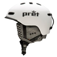 Pret Cynic Snowsport Helmet in Rubber White - Closeouts