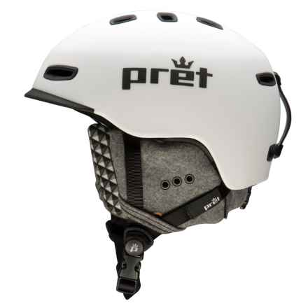 Pret Cynic Snowsport Helmet in Rubber White - Closeouts