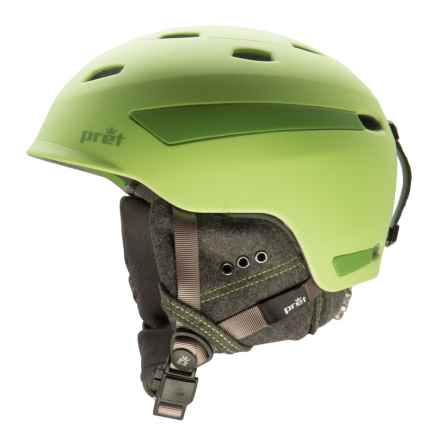 Pret Effect Snowsport Helmet in Rubber Crystal Green - Closeouts