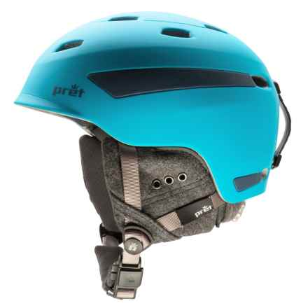 Pret Effect Snowsport Helmet in Rubber Hawaii Blue - Closeouts