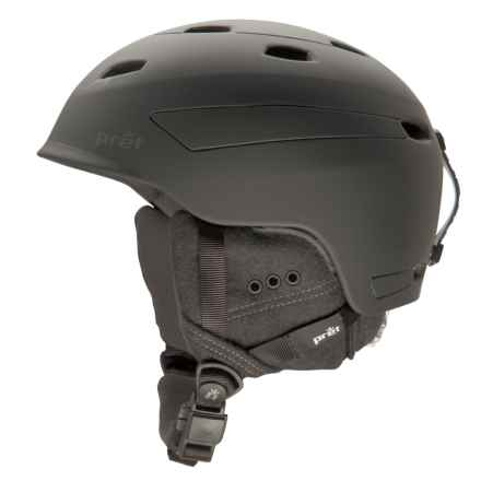 Pret Effect Snowsport Helmet in Rubber Jet Black - Closeouts