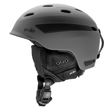 Pret Effect Snowsport Helmet in Rubber Smoked Grey