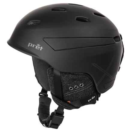 Pret Effect X Ski Helmet in Rubber Jet Black - Closeouts