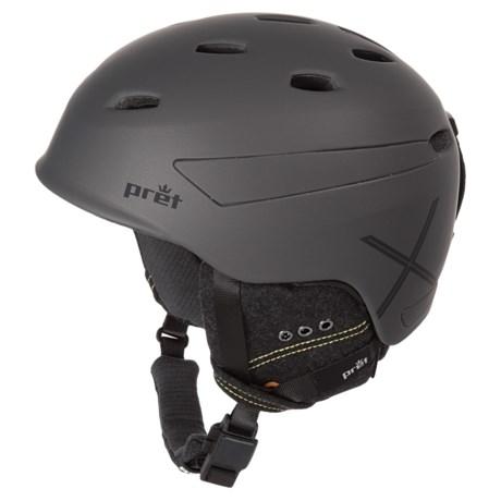 Pret Effect X Ski Helmet in Rubber Mercury