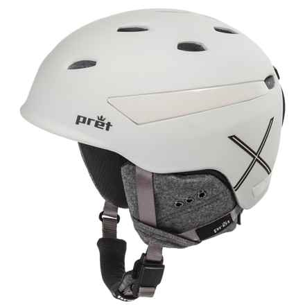 Pret Effect X Ski Helmet in Rubber Pearl Chalk - Closeouts