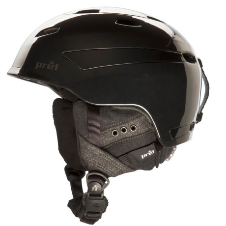 Pret Facet Snowsport Helmet (For Women) in Pearl Black
