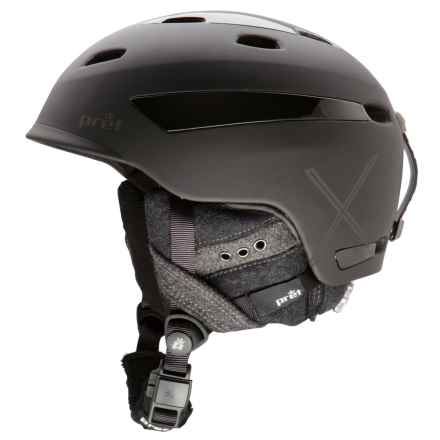 Pret Facet X Ski Helmet (For Women) in Rubber Pearl Black - Closeouts
