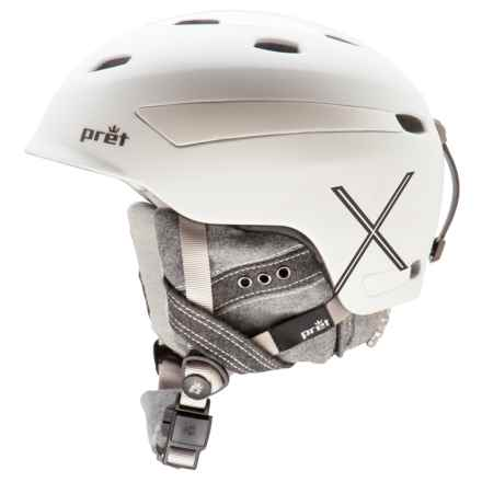 Pret Facet X Ski Helmet (For Women) in Rubber Pearl White - Closeouts