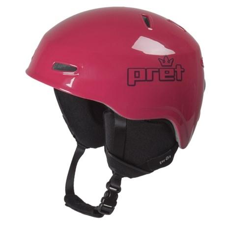 Pret Kid Lid Ski Helmet (For Kids) in Gloss Cherry
