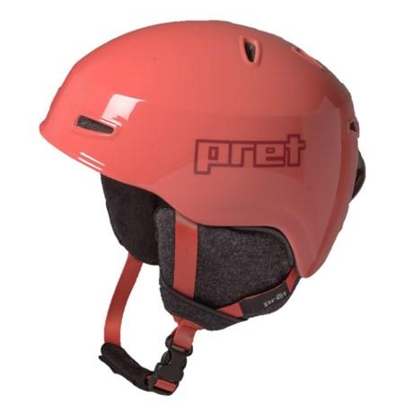 Pret Kid Lid Ski Helmet (For Kids) in Hot Coral