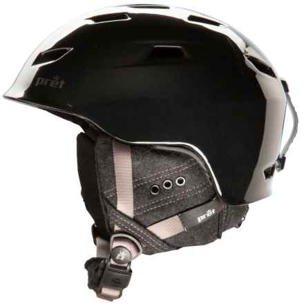 Pret Luxe Snowsport Helmet (For Women) in Pearl Black - Closeouts
