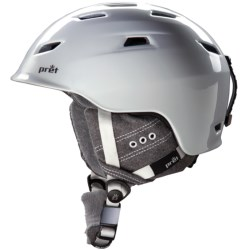 Pret Luxe Snowsport Helmet (For Women) in Pearl White/Nickel