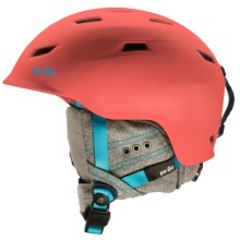 Pret Luxe Snowsport Helmet (For Women) in Rubber Hot Coral - Closeouts